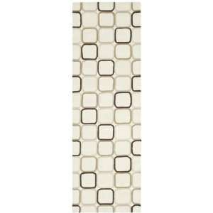 10 Feet Handmade New Zealand Wool Area Runner, Ivory