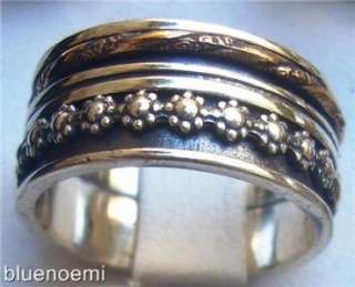 Wide band spinner ring silver gold spinning bague tube argent anillo