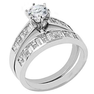 CARAT WOMENS PLATINUM ROUND DIAMOND ENGAGEMENT RING WEDDING BAND