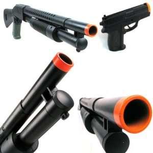 Power Spring Airsoft Gun Shotgun Side Pistol Combo  Sports