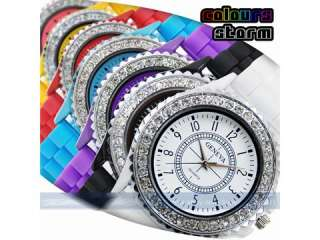 Classic Silicone Crystal Lady Jelly Watch Gifts Stylish Fashion Luxury