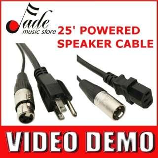 Elite Core 25 Powered Speaker Snake Cable   Neutrik XLR and 3 prong