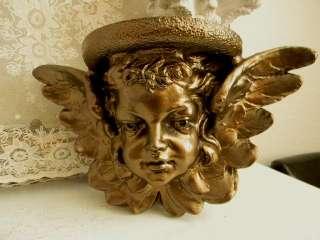 My Fav Huge Winged Cherub Shelf~Great Victorian Decor~Bronze