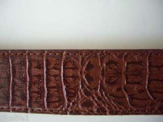D021 Brown Leather Mens Belts Size Medium 34 to 36