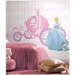 Disney Princess Cinderella And Carriage Giant Wall Decals
