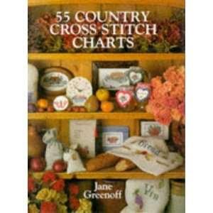 55 Country Cross Stitch Charts (9780715399521): Jane Greenoff: Books