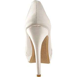 Gianna   White Satin  Dyeables Shoes Womens Evening & Wedding