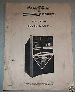 ORIGINAL SEEBURG SCD 1A SERVICE MANUAL LASER MUSIC