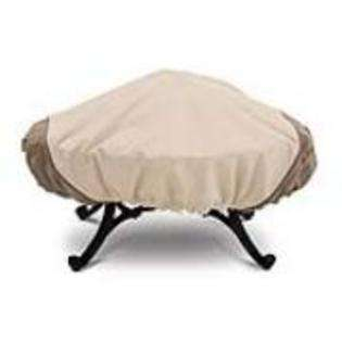 Classic Accessories 71942 Fire Pit Cover   Square Pebble Bark Earth