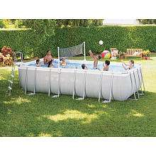 Intex 18 x 9 x 52 Rectangular Ultra Frame Pool Set   Intex