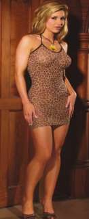 sexy leopard print mini dress One Size & Plus Size Daring Clubwear