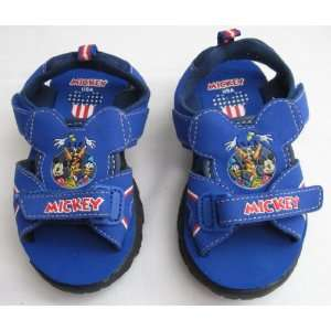 Boys Blue Light Up MICKEY MOUSE Sandals Size 7: Everything Else