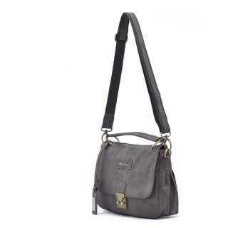 Grey Crocodile Embossed CrossBody Messenger Bag Vintage Shoulder