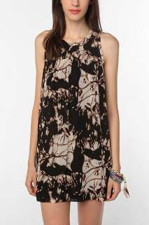 UrbanOutfitters  Sparkle & Fade Graphic Printed Chiffon Dress