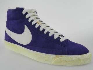 NIKE BLAZER HI SUEDE (VNTG) NEW Mens Retro Purple Basketball Shoes