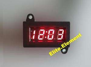 Micro Digital Clock Red LED For Car Motorcycle Motorbike Scooter Bike