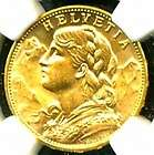GOLD COIN 20 FRANCS NGC CERTIF GENUINE GRADED MS 64 GORGEOUS