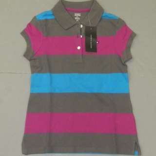 NWT GIRLS KIDS TOMMY HILFIGER CLASSIC S/S POLO SHIRT POLOS CHILDRENS T