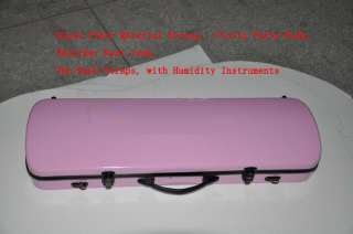 New Violin Case Glass Fiber Light Strong Pink, Black, White,Yellow