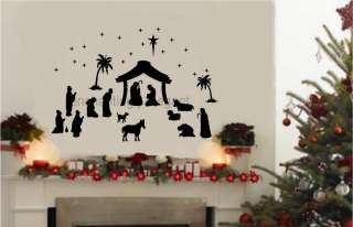 36 piece Large Nativity Set Vinyl Decal Wall Stickers Christmas Decor