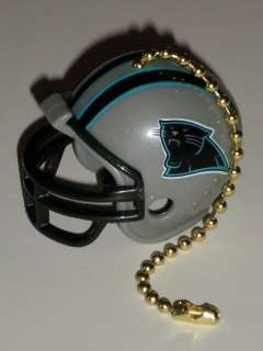 Carolina Panthers NFL Football Helmet Light / Fan Pull with Brass