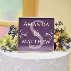 Personalized Monogram Wedding Cake Topper