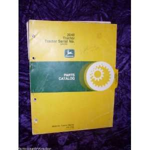 : John Deere 2040 Tractor OEM Parts Manual PC 1763: John Deere: Books