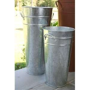 Galvanized French Flower Buckets:  Kitchen & Dining