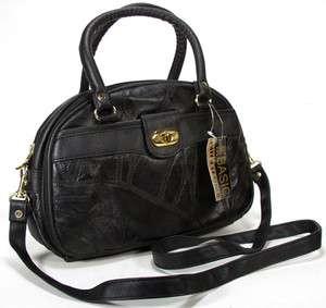 Ladies Simply Basic Black Patch Leather Purse Handbag New w/ Tag NWT