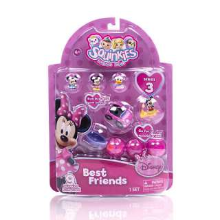Disney SQUINKIES Best Friends RARE Series 3 MICKEY & MINNIE MOUSE Set