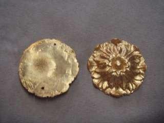 DECORATIVE ROSETTE GOLD ORMOLU FURNITURE DECOR MOUNTS