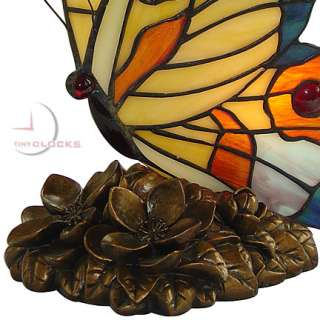 Butterfly on Lily Pad, Tiffany Stained Glass Lamp
