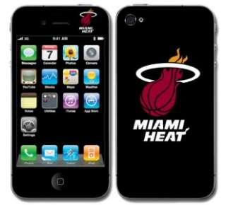 Miami Heat Vinyl Skin Decal Cover Iphone 4 Sticker Body Guard Go Heat