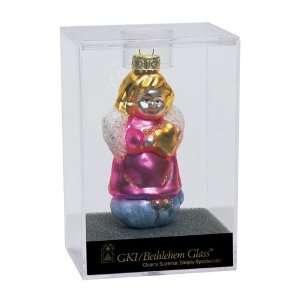 Shiny Pink Angel Glass Christmas Ornament #822006