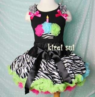 Pettiskirt Hot Pink Blue Green Cupcake Tank Top Birthday Dress 1 7