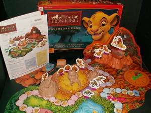Disneys The Lion King 3D Adventure Board Game MB 2003