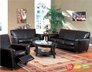 Havana Dark Brown Leather Sofa & Love Seat Couch Set