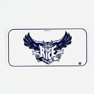 Rice Owls License Plate   college License Plates Sports