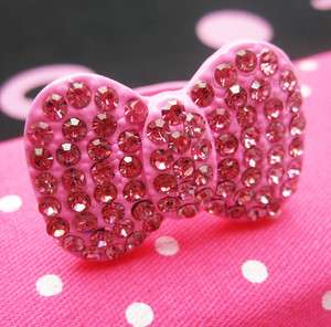Bling Pink XL Bow Hello Kitty Ring Adjustable Size NEW