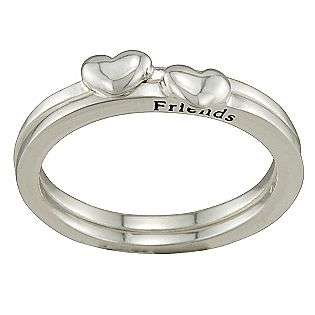 Best Friend Heart Accent Ring in Sterling Silver  Reflections Jewelry