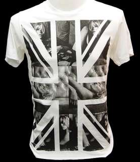 KATE MOSS UK British Union Jack Flag Punk def T Shirt M
