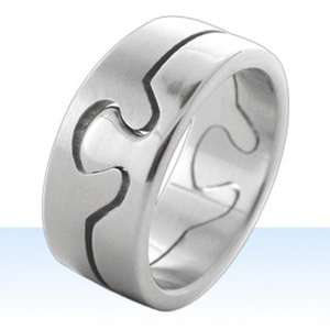 Autism Awareness Puzzle Piece 2 Piece Ring Choose Size