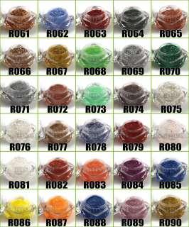 120 Colors UV Builder Gel Glitter Shimmer Paillette Nail Art Tips