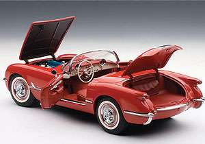 AUTOART 71082 118 1954 CHEVROLET CORVETTE RED DIECAST MODEL CAR