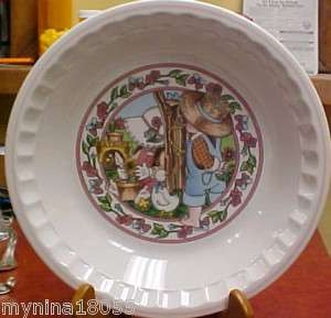 Watkins Spring Fancy Country Kids Recipe Pie Plate
