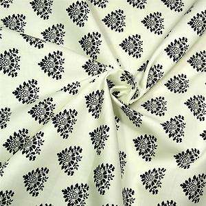 Michael Miller Cotton Fabric Cream & Black Toile Floral Fat Quarters