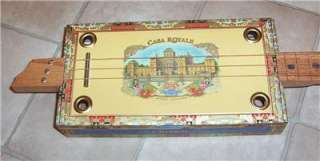 Casa Royale 3 string Romeo Y Julieta cigar box guitar slider #406