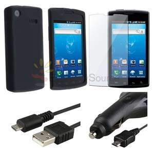 FOR SAMSUNG CAPTIVATE GALAXY S ACCESSORY BUNDLE CASE CAR CHARGER CABLE