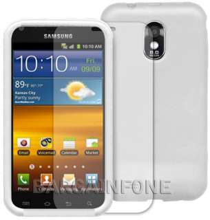 SAMSUNG GALAXY S II EPIC TOUCH WHITE SOFT SILICONE CASE+CLEAR SCREEN