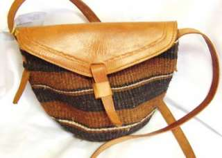 Fiber and Leather Hand Bag from Kenya: Purses: WorldofGood by